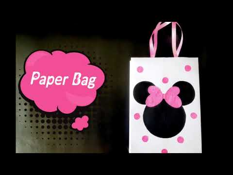 Paper Bag - Easy DIY Minnie Mouse