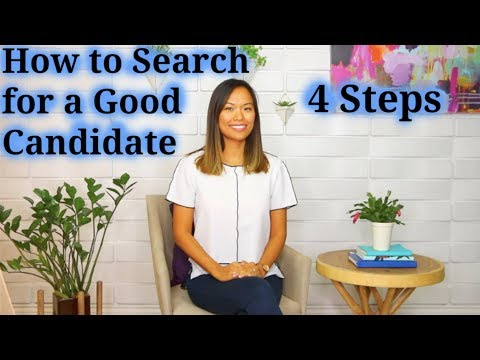 How to Search for a Good Candidate - How to Recruit a Good Job Candidate (2 of 5)