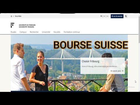 BOURSE SUISSE  2021-2022 -Universite Fribourg [ sans certificats] [lien en commentaire]-