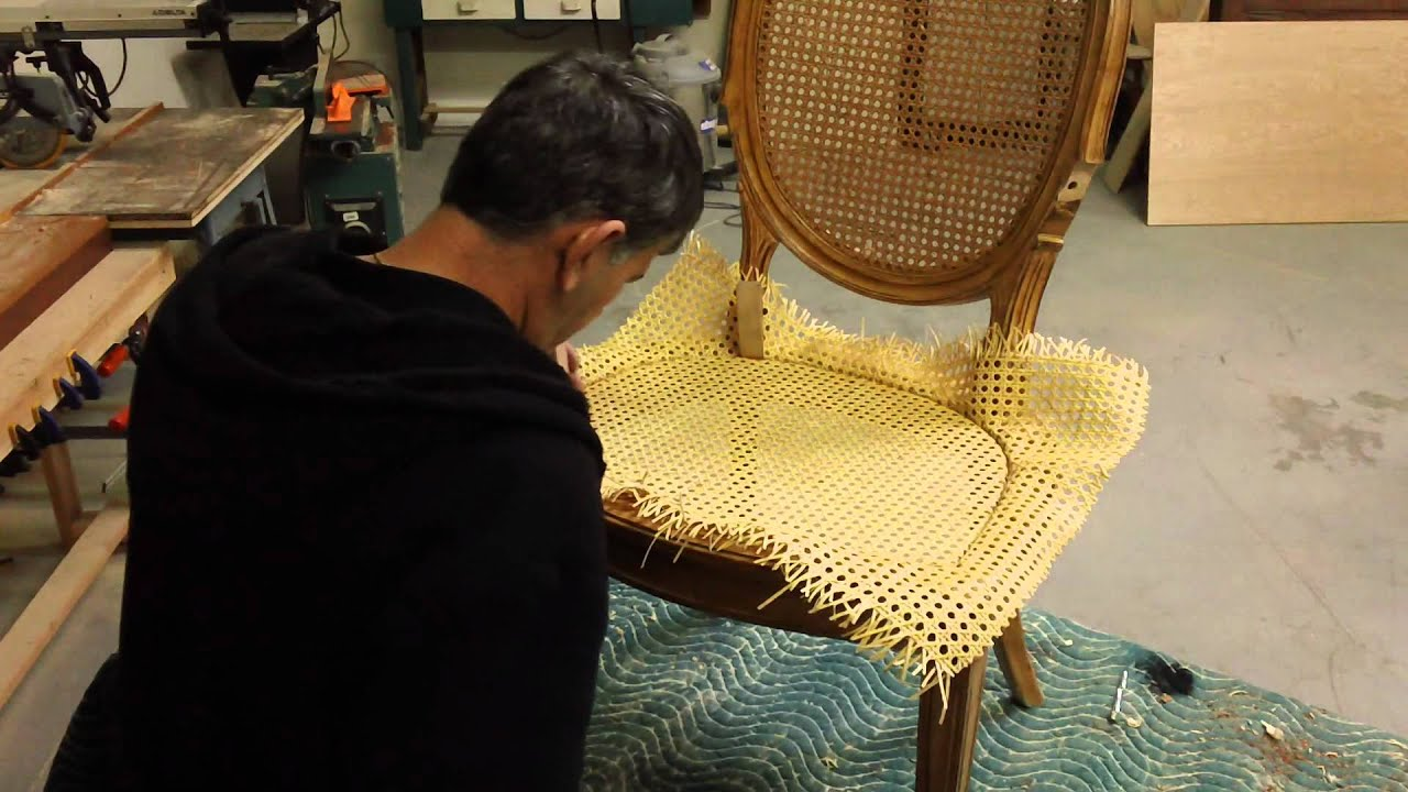 Repair Rattan Chair Seat Recycled Adirondack Chairs How To Re Cane A Youtube