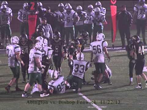 Abington Varsity Football vs Bishop Fenwick 11.22.13