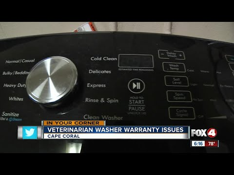 Cape Vet Clinic Washer Warranty