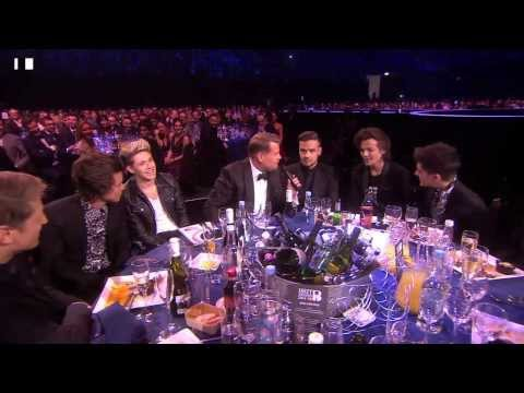 James Corden Chats With One Direction | BRIT Awards 2014