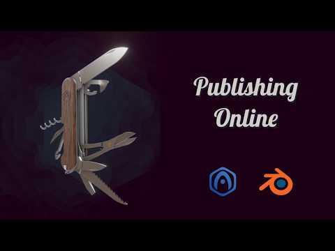 Verge3D For Blender Basics - Part 12 - Publishing Online