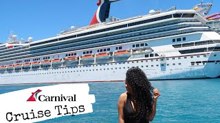 CARNIVAL CRUISE TIPS + CRUISE COMMON MISTAKES