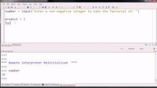 Writing a Simple Factorial Program. (Python 2)