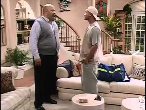 Fresh Prince Of Bel Air Unscripted Scene Will Smith , James Avery