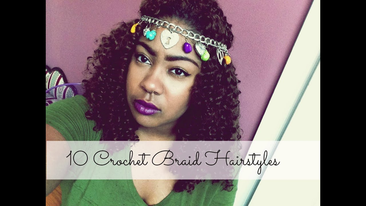 10 Crochet Braid Hairstyles - YouTube