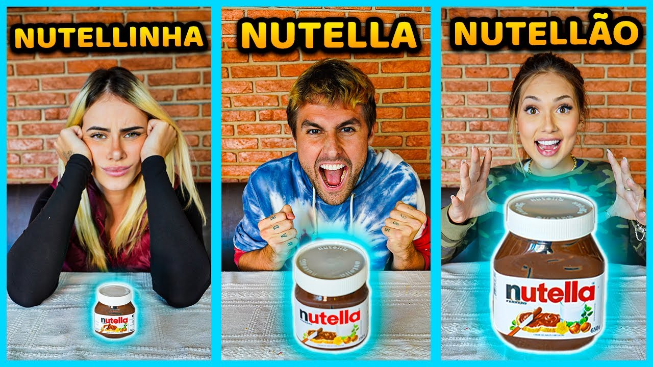 NUTELLA, NUTELLINHA, NUTELLÃO!! ( NOVO MINI GAME ) [ REZENDE EVIL ]