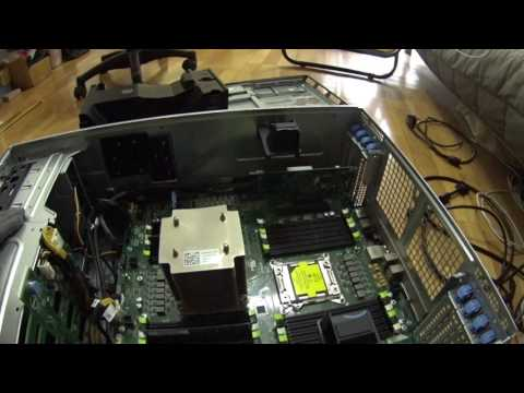 dell poweredge t620 structure - open and view - just changed a main board