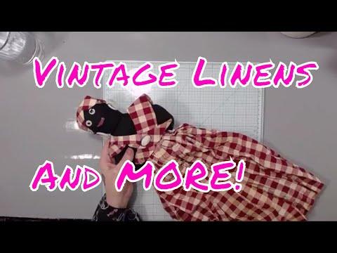 Vintage Linen Haul + Happy Mail