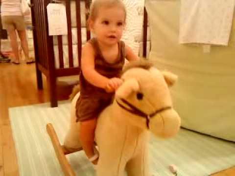 Eden's first rocking horse...PB Kids :)
