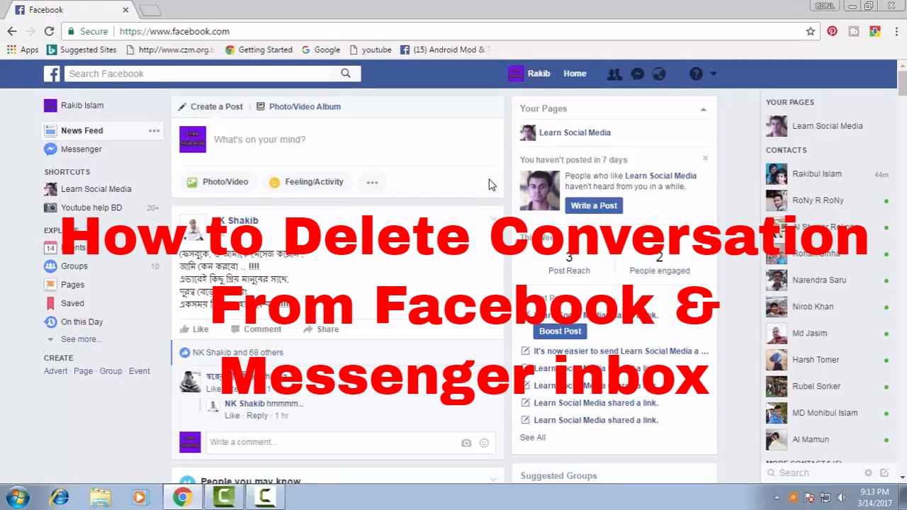 How to delete conversation from facebook message inbox and how to delete conversation from facebook message inbox and messenger inbox fb tips 57 ccuart Choice Image
