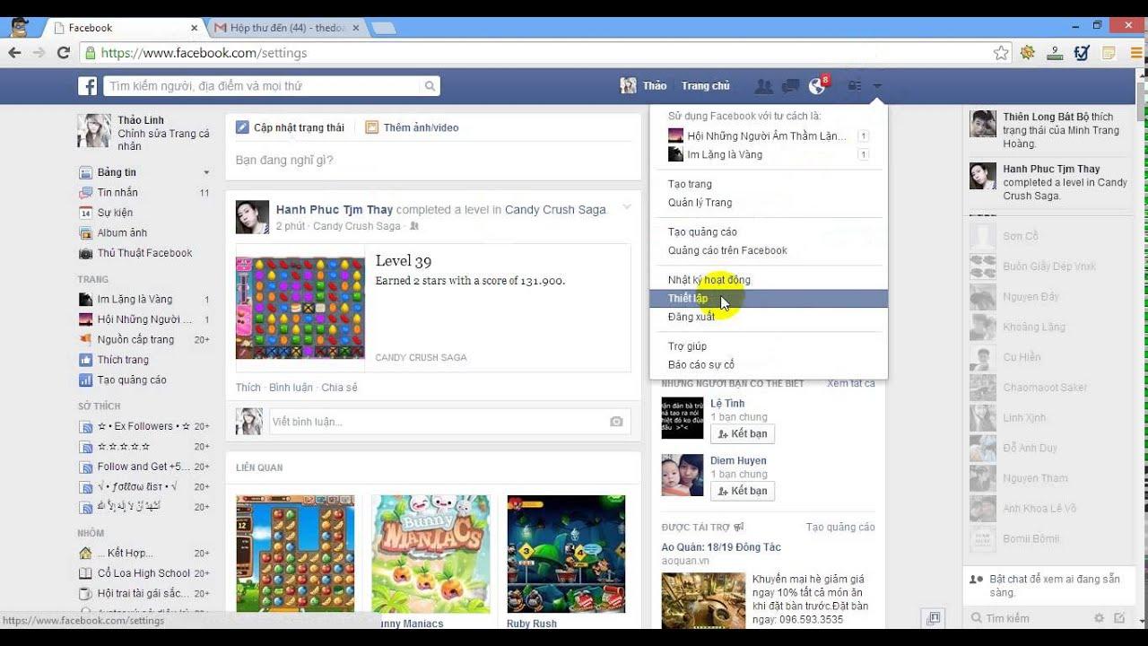 Bài 3 : Hướng dẫn tắt thông báo trên facebook qua email