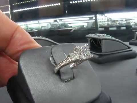 1.71 Carat Princess Cut Diamond Engagement Ring