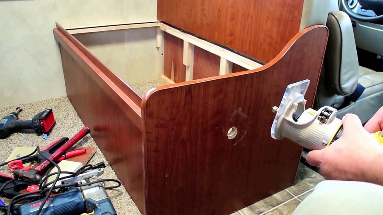 Adding Under Seat Cabinets To The Dinette Of My Rv Youtube