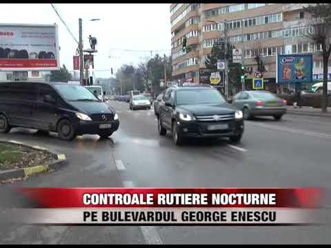 """Controale rutiere nocturne pe Bulevardul """"George Enescu"""""""
