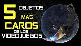 LOS 5 OBJETOS MÁS CAROS DE LOS VIDEOJUEGOS  TOP JUEGOS