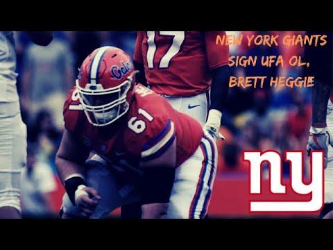 BREAKING NEWS! New York Giants Sign UFA Brett Heggie OL, Flo