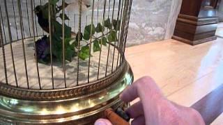 Large antique Bontems bird automaton/singing bird cage