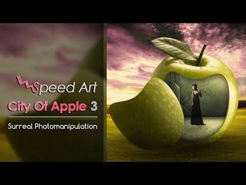 speed art city of apple 3 surreal photo manipulation. Black Bedroom Furniture Sets. Home Design Ideas