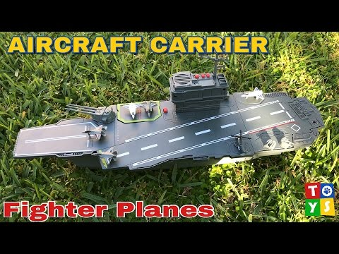 Aircraft Carrier Fighter Planes and Helicopter Toy Unboxing and Play Toy Video for Kids