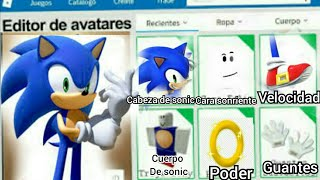 CREATE SONIC IN ROBLOX[VERY EMOSIONANTE AND GRANDIOSO😮😀🙌🙋]