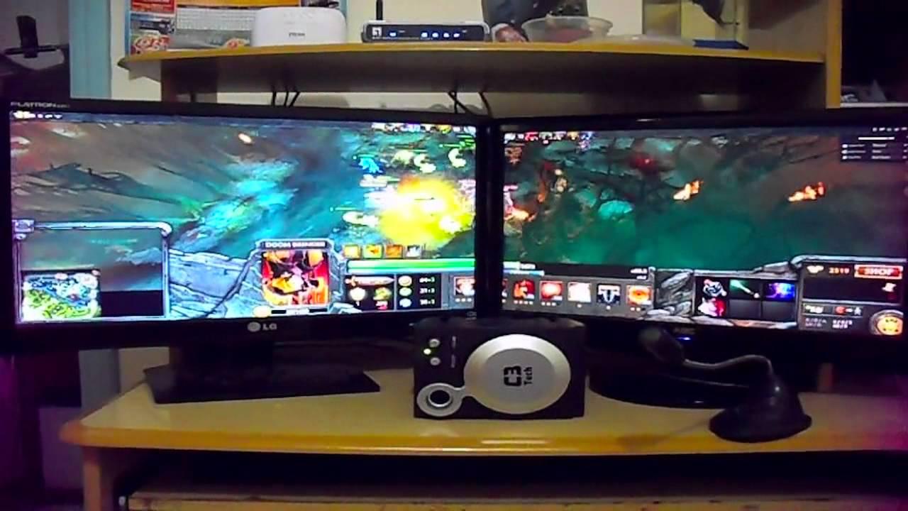 #68 - Dota 2   EYEFINITY Dual Monitors (3360x1050)   ATi Radeon HD 5670