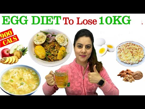 Lose 10kg in 10 days egg diet plan for fast weight loss ||  900 calorie egg diet plan -Natasha Mohan