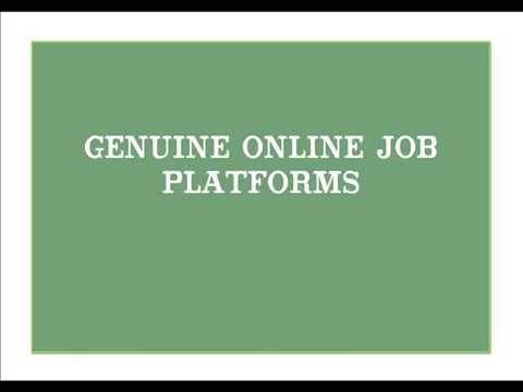 Online Job Platforms (Genuine)