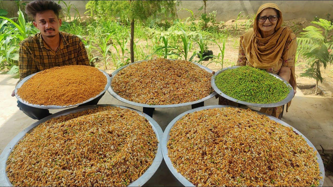 MIX NAMKEEN    CRUNCHY AND CRISPY NAMKEEN MIXTURE    DAL BHUJIYA    CHANA DAAL    VILLAGE FOOD   