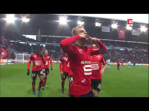 Znakomity gol Kamila Grosickiego - Stade Rennais v AS Saint-Étienne (2:0)