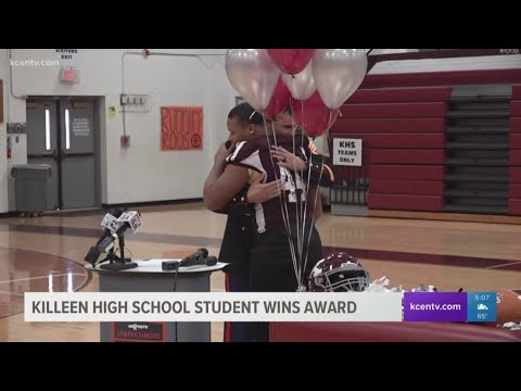 Killeen High School Student wins award from US Marine Corps