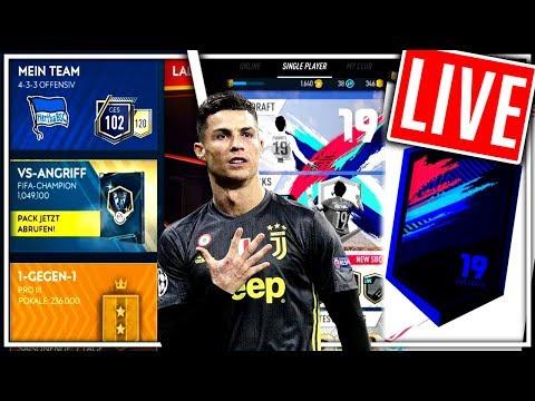 FIFA MOBILE 19 + PACYBITS + VIP FUNKTION! 😱🔥 PacksTrader Livestream thumbnail