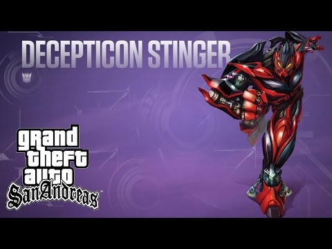 GTA SA Avance Proyecto Transformers 4 AOE Pack STINGER