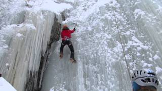 Escalade de glace au Québec- Montagne d