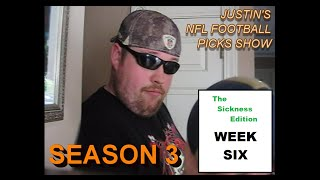 Justin's 2014/2015 NFL Football Picks Show -- Week 6, Oct. 9th-13th 2014