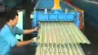 Corrugated Steel Panel Roll Forming Machine.wmv