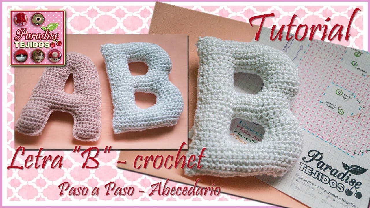 Crochet letra B - abecedario a crochet - YouTube