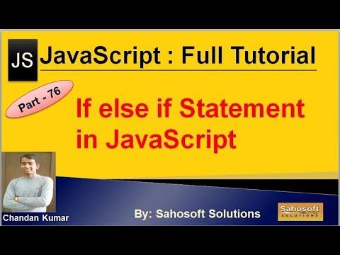 if else if Statement in JavaScript | JavaScript Full Tutorial in Hindi thumbnail