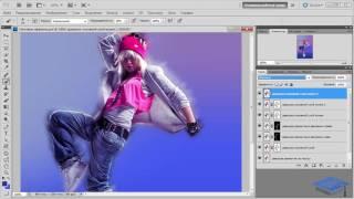 Создаём коллаж со световыми эффектами в Фотошоп #1