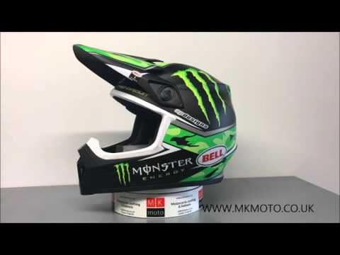 bell mx 9 off road helmet monster energy replica youtube. Black Bedroom Furniture Sets. Home Design Ideas
