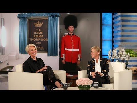 Ellen's Permanent Dedication to Dame Emma Thompson