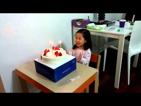 Happy birthday song in Chinese, English and Korean