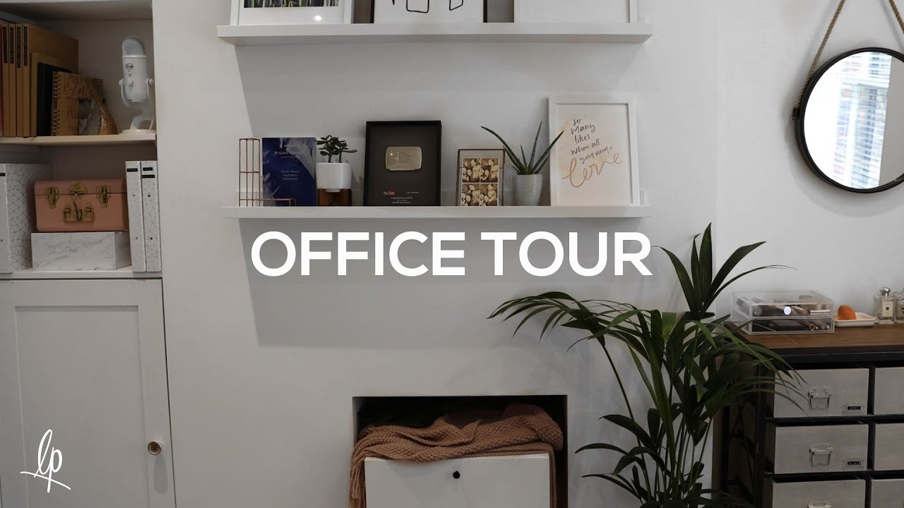 home office tour | lily pebbles - youtube