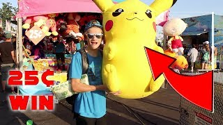 I WON the Biggest Prize At The Carnival!(HUGE WIN)
