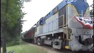 Upper Hudson River Railroad UHRR ex D&H Alco         RS-36 leaves Riverside Station July 17, 2009