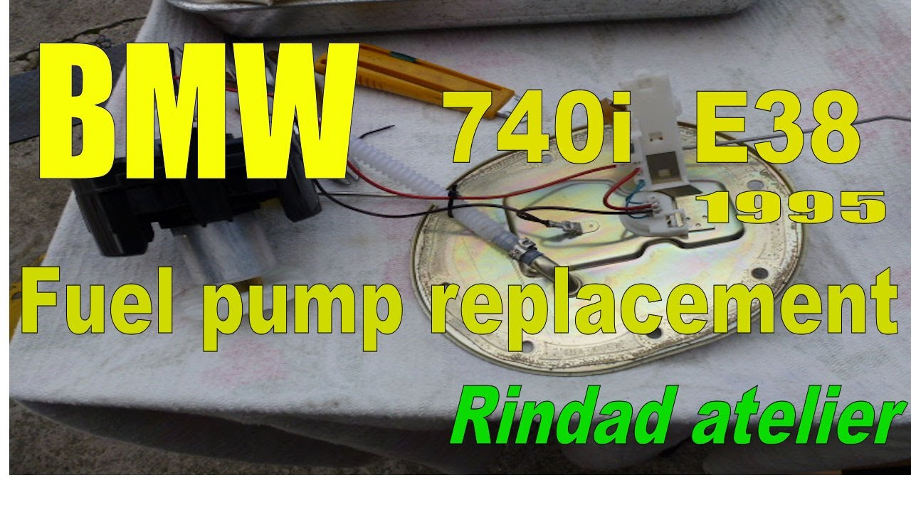 bmw 740i e38 1995 fuel pump replacement diy
