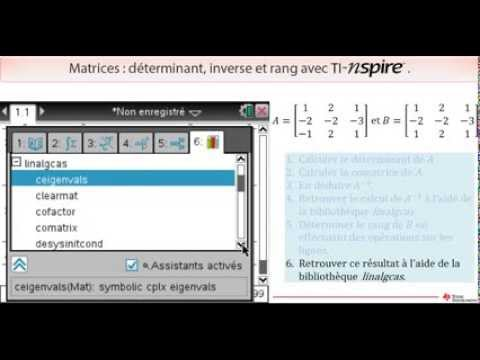 how to find determinant on ti nspire