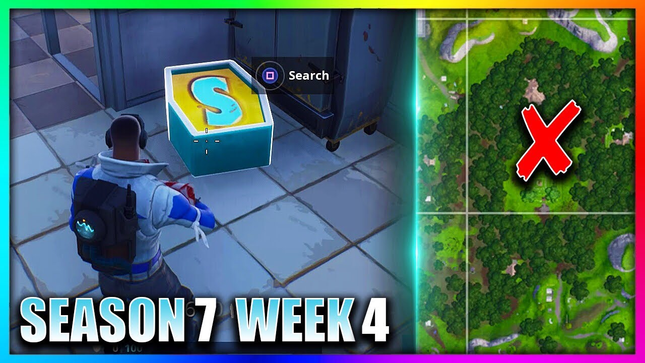 """""""Search The Letter S In Wailing Woods"""" Fortnite Week 4"""